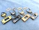 バッグ用留め具 ヒネリ錠 長四角 1個(組)入り 差し込み 合金製 ひねり 長方形 ターンロック 金具