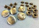● 飾りバネホック L 芽 頭径17mm 5組入り 光沢アンティークゴールド