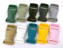 ■ プラスチック製 バックル 内径20mm 8個入り 差し込み 艶消し プラスチックバックル KAM
