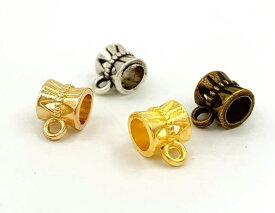 ◆ 金具 スペーサービーズ B カン付 20個入り 丈7.5mm 通し穴4.8mm 連結 メタルパーツ