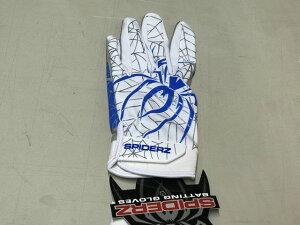SPIDERZスパイダーズ 野球 バッティング手袋 バッティンググローブ 両手組 ハイブリッド SPIDERZ HYBRID日本未発売!アメリカ直輸入 限定品ホワイト・コバルト