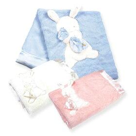 うさぎのファーブランケット☆ピンク・ホワイト・ブルー
