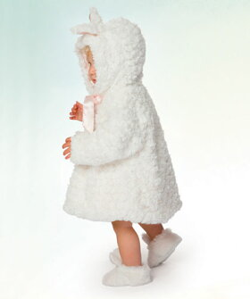 雪うさぎのコート♪