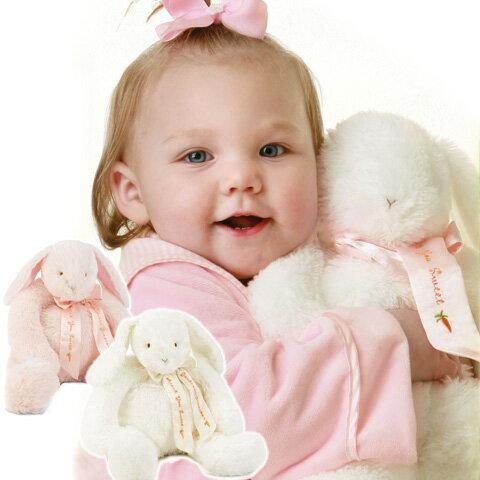 【送料無料】Bunnies By The Bay バニーズバイザベイなかよしうさぎさん☆ピンク・ホワイト・ベージュ(大きいぬいぐるみ プレゼント ギフト 誕生日 お祝い お見舞い 新生児 出産祝い 抱っこ ファーストトイ 布のおもちゃ)