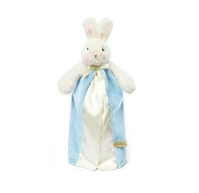 【アウトレット】赤ちゃんの安心毛布☆ミニサイズ☆うさぎブルー