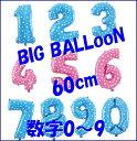 BIG!ナンバーバルーン60cmサイズ《メール便送料無料》