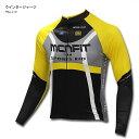 売り切り【送料無料】mcnサーモサイクルジャージ Black&Yellow(裏起毛プリントジャージ、秋冬用サイクルジャージ、自転車用ウインター…