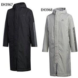 BOSLONG3-STRIPESPARKA (GDT81)アディダス(adidas) ベンチコート ロングコート 中綿コート