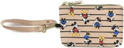ディズニーミッキーマウス&ミニーボーダーのリール付きパスケース