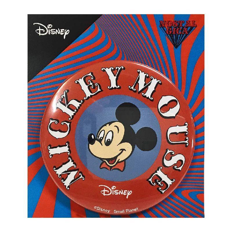 Disney ディズニー ノスタルジカ ミッキーマウス/ロゴ/缶バッチ(大) APDS3576N / Kiitos キートス / スモール・プラネット