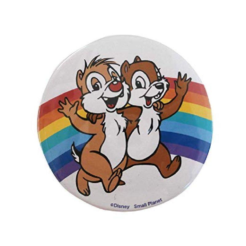 Disney ディズニー ノスタルジカ チップ&デール/レインボー/缶バッチ(大) APDS3583N / Kiitos キートス / スモール・プラネット