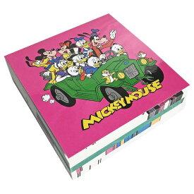 【レタースケール部門 週間ランキング1位獲得 】Disney ディズニー NEW ノスタルジカ スクエアメモ帳 ミッキー フレンズ 車
