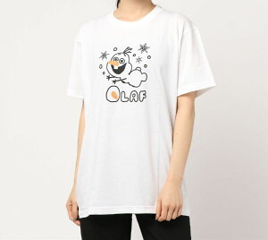 Disney ディズニー TシャツMアナ雪オラフWH ...