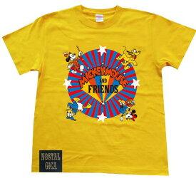 【当店ポイント10倍】Disney ディズニー ノスタルジカ Tシャツ ミッキーフレンズロゴ イエロー L AWDS6069N