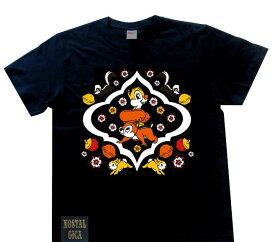 【当店ポイント10倍】Disney ディズニー ノスタルジカ Tシャツ チップ&デール ブラック L AWDS6083N