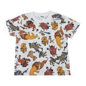 Disney ディズニー ライオンキング オールスター 総柄 Tシャツ キッズ
