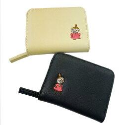 【入荷したら】MOOMINムーミンリトルミイブラック/ベージュ二つ折り財布MM2052EC_MM2053EC