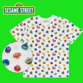 【SALE★30%OFF!!】 SESAME STREET セサミストリート フェイス パターン Tシャツ SEAP459_SEAP460