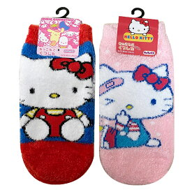 Sanrio サンリオキャラクターズ キティオスワリ もっこもこ靴下 HKSOC1076L_HKSOC1077L