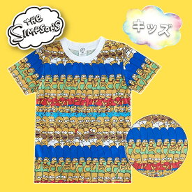 【SALE★30%OFF!!】 The Simpsons ザ・シンプソンズ ファミリー/パターン Tシャツ キッズ SSAP733_SSAP734