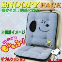 【Snoopy】ダブルクッション 『スヌーピーフェイス』 (約45×97cm)ブルー