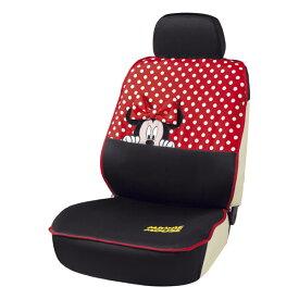 運転席・助手席兼用 バケットタイプ&軽ベンチシート汎用シートカバー 『ミニーフェイス』1席分 ブラック