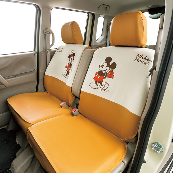 軽自動車ベンチシート用シートカバー 『MMナチュラル』 汎用タイプ前2席 アイボリー