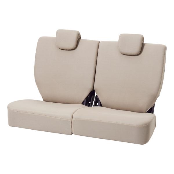 汎用・軽自動車後席用 シートカバー『カラードカバー』ベージュ (背・座 5:5分割)