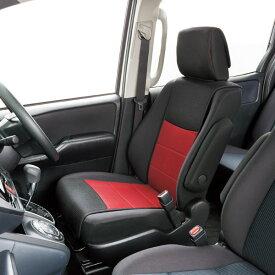 運転席・助手席兼用 汎用センターシートカバー 『ツートンメッシュ』ブラック/レッド(1席分)