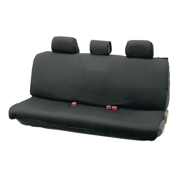 撥水シートカバー『ウォータープルーフ』(ブラック 後席用・枕カバー3枚付)背・座一体型