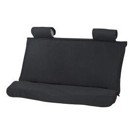 【後席シートベルト装着OK!】防水シートカバー ウエットガード(後席セット・ブラック)ウエットスーツ素材使用 枕カバー2個付