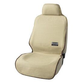 運転席・助手席兼用 エプロンタイプ防水汎用シートカバー『ファインテックス』(ベージュ 1席分)