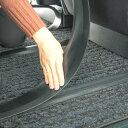 ミニバン専用シートレール保護カバー 『シートレールカバー』75cm×2本入り ブラック