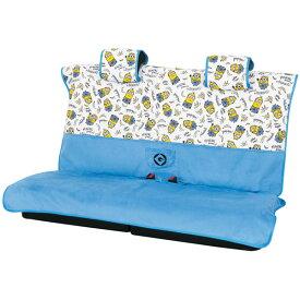 【MINIONS】軽自動車・後席用フリーサイズシートカバー『ミニオンパターン』 枕カバー3枚セット ホワイト