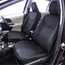 【M5-15】トヨタ アクア 5人乗り専用(NHP10・H23.12〜※年式・グレード要確認) 撥水加工布シートカバー『ウォータープルーフ』(ブラック)1台分セット
