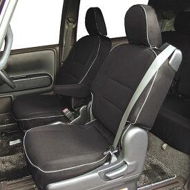 【M5-18】トヨタ ポルテ・スペイド(2WD・NCP141)専用 撥水加工布シートカバー『ウォータープルーフ』(ブラック)1台分セット