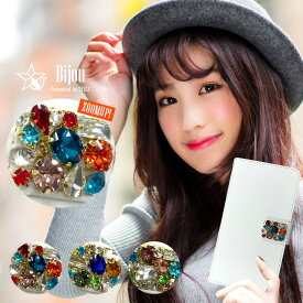 スマホケース 手帳型 全機種対応 スワロフスキー ビジュー iPhone8 iPhone XS Max ケース XR iPhoneX iPhone7 Plus Xperia XZ3 XZ2 XZ1 SO-01L SO-01K AQUOS sense2 R2 SH-01L SH-03K SC-02L F-04K LG style L-03K Android one S3 X4 ハンドメイド