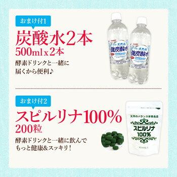 炭酸水とスピルリナプレゼント