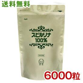 スピルリナ100% 6000粒 約5ヵ月分 送料無料ホールフード マルチビタミン マルチミネラル アミノ酸 ファスティング ダイエット タンパク質がたっぷり 健康食品