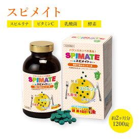 スピメイト 1200粒入 約30日分 ホールフード 有胞子性乳酸菌ラクリス-S 酵素 ビタミンC ファスティング ダイエット タンパク質がたっぷり 子供 キッズ 健康食品