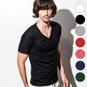 1PIU1UGUALE3 RELAX(ウノピゥウノウグァーレトレ) ベーシックVネックTシャツ(ホワイト/ブラック/グレー/レッド/ピンク…