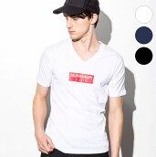 1PIU1UGUALE3RELAX(ウノピゥウノウグァーレトレ)ボックスロゴプリントTシャツ(ホワイト/ネイビー/ブラック)