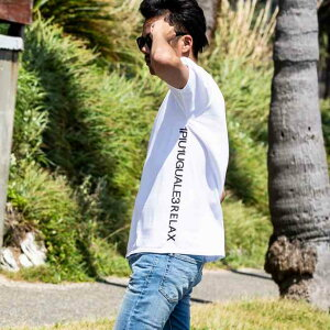 1PIU1UGUALE3RELAX(ウノピゥウノウグァーレトレ)サイドロゴプリントTシャツ(ホワイト/ピンク/チャコール/ブラック/ロイヤルブルー/ライトブルー/パープル/ダークグリーン)