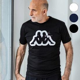 Kappa×1PIU1UGUALE3 RELAX(ウノピゥウノウグァーレトレ) 刺繍ワッペンTシャツ(ホワイト/ネイビー/ブラック)