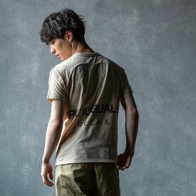 1PIU1UGUALE3 RELAX(ウノピゥウノウグァーレトレ) バックロゴプリントTシャツ(ホワイト/ベージュ/ネイビー/ブラック)