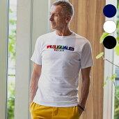 1PIU1UGUALE3RELAXウノピゥウノウグァーレトレレインボー3DロゴTシャツメンズ半袖カットソーかっこいいおしゃれブランドウノピュウ