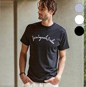 1PIU1UGUALE3RELAXウノピゥウノウグァーレトレ刺繍ロゴ半袖Tシャツメンズカットソーかっこいいおしゃれブランドウノピュウ