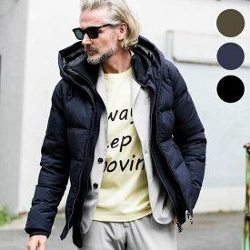 AKM Contemporary スタンドネック レイヤード ダウンジャケット メンズ アウター 高品質 防寒 防風 保温 暖かい おしゃれ かっこいい ブランド エイケイエムコンテンポラリー