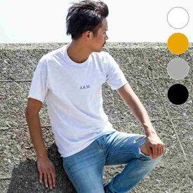 AKM Contemporary(エイケイエムコンテンポラリー) フロントロゴTシャツ(ホワイト/オレンジ/ライトグレー/ブラック)