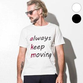 AKM Contemporary(エイケイエムコンテンポラリー) メッセージプリントポケットTシャツ(オフホワイト/ブラック)